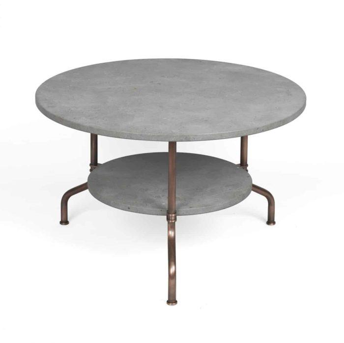 Produktbild, runt bord i betong