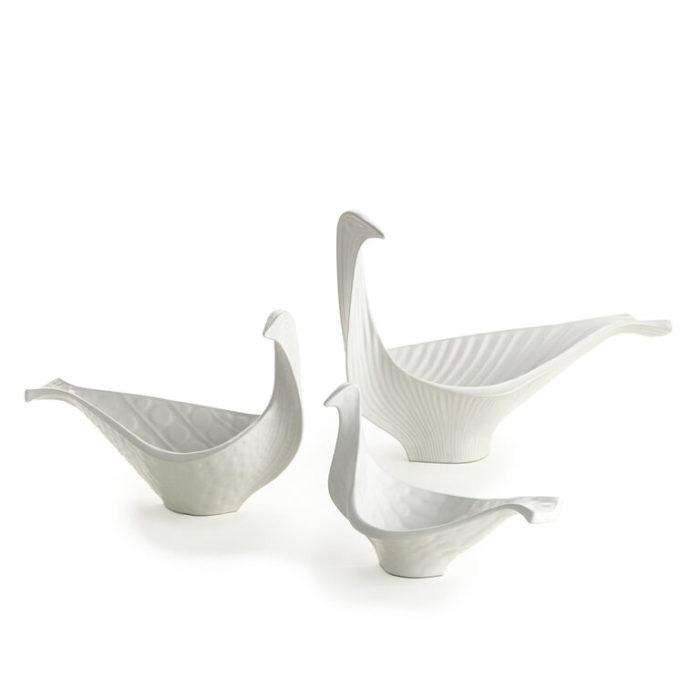 Produktbild, skålar i form av fåglar.